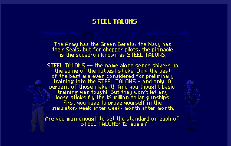 Screenshot of Steel Talons