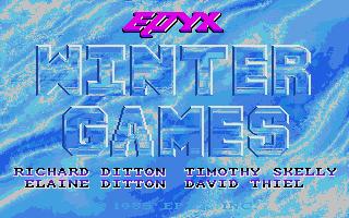 Screenshot of Winter Games