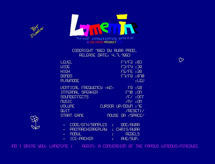 Screenshot of Lamemine
