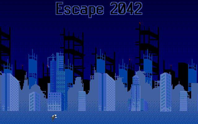 Some nice parallax scrolling as the main hero runs in front of the skyline.