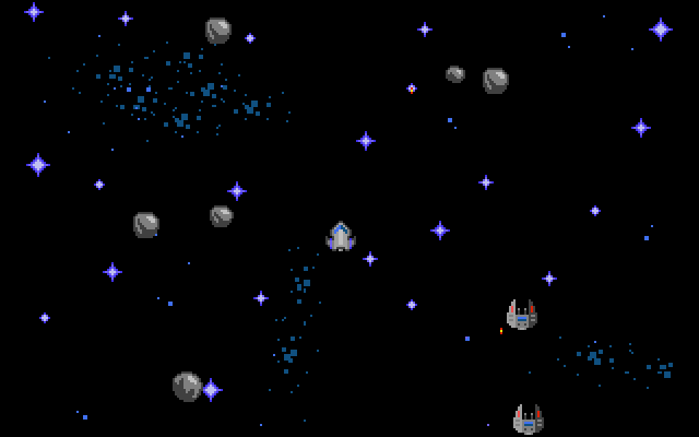 The first mini game. Vertical shooting fun ... without the shooting :)