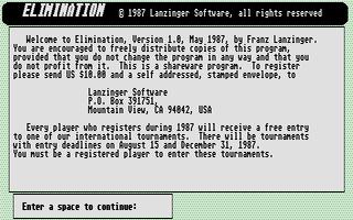 Screenshot of Elimination