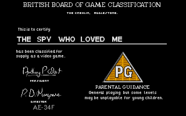 Large screenshot of Spy Who Loved Me, The