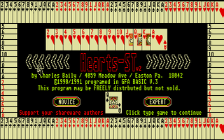 Screenshot of Hearts ST