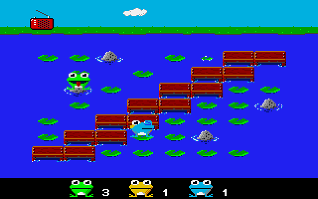 One of the many screens you can pick to start a brawling Frog fest!