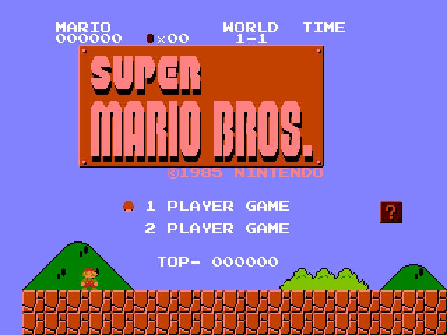 Screenshot of Super Mario Brothers - Godlenes