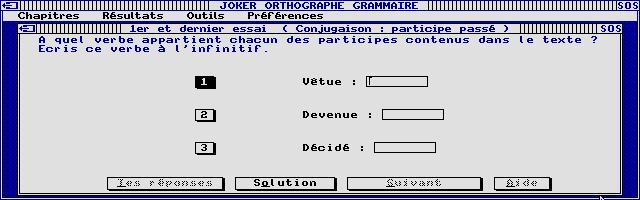 Thumbnail of other screenshot of Joker Micro - Orthographe Grammaire 6e