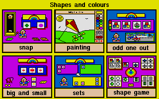Screenshot of Shapes and Colours