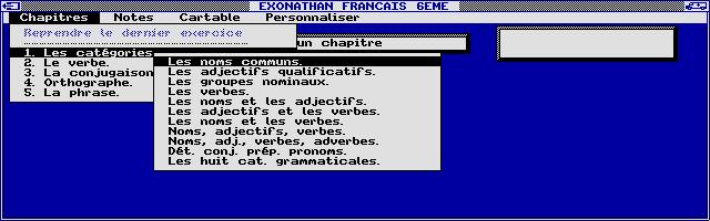 Screenshot of Exonathan Français 6e