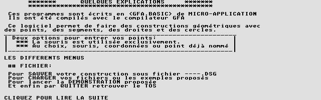 Screenshot of Géométrie