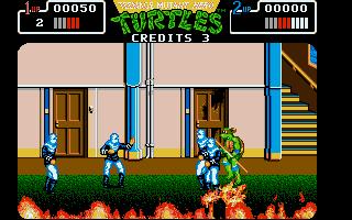 Screenshot of Teenage Mutant Hero Turtles - The Coin Up