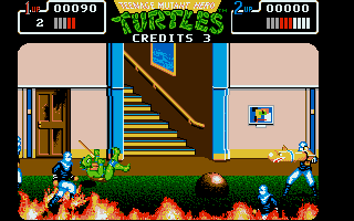 Screenshot of Teenage Mutant Hero Turtles - The Coin Up