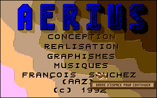 Screenshot of Aerius