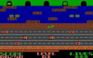 Screenshot of Frogger
