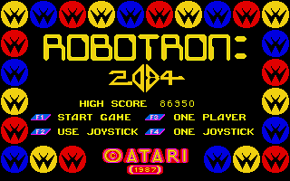 Screenshot of Robotron: 2084