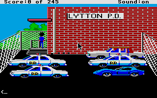 Screenshot of Police Quest - In pursuit of the death angel