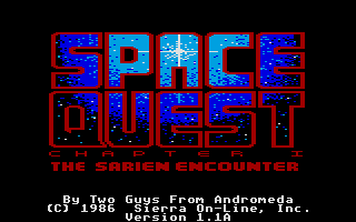Screenshot of Space Quest - Roger Wilco in the Sarien Encounter