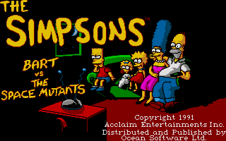 Screenshot of Simpsons - Bart Vs The Space Mutants, The