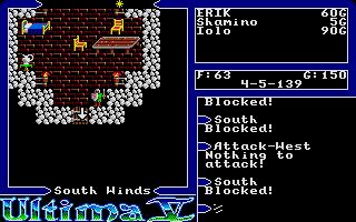 Screenshot of Ultima V - Warriors of Destiny