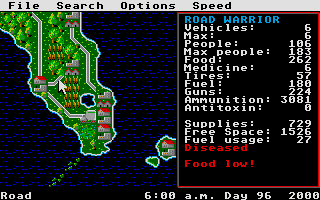 Screenshot of Roadwar 2000