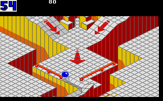 Screenshot of Marble Madness