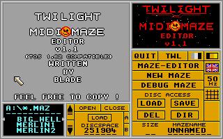 Screenshot of Midi Maze Editor