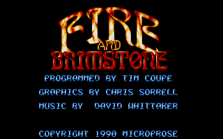 Screenshot of Fire and Brimstone