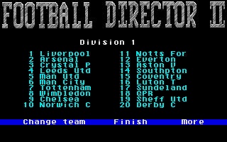 Screenshot of Football Director 2