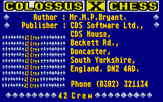 Thumbnail of other screenshot of Colossus Chess X