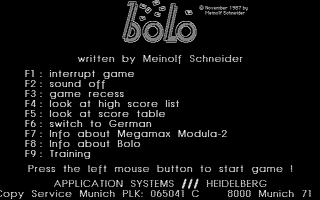 Screenshot of Bolo
