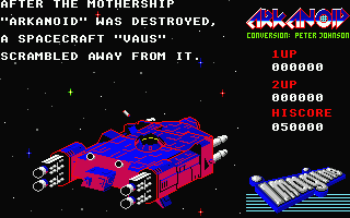 Screenshot of Arkanoid