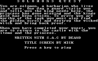 Thumbnail of other screenshot of Solomon's Quest