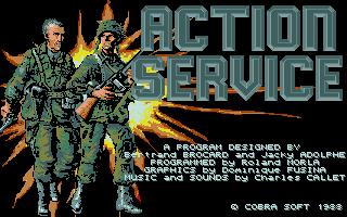 Screenshot of Action Service