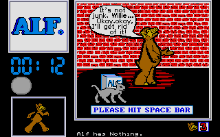 Screenshot of ALF - The First Adventure