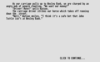 Screenshot of Baker Street Detective