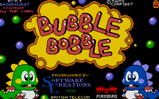 Screenshot of Bubble Bobble