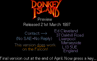 Thumbnail of other screenshot of Donkey Island