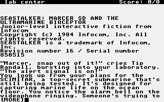 Screenshot of Seastalker