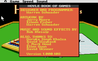 Screenshot of Hoyle's Official Book of Games volume 1