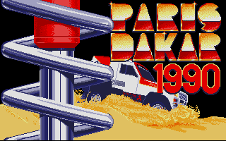 Screenshot of Paris Dakar 1990