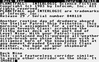 Screenshot of Planetfall