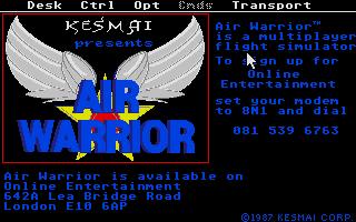 Screenshot of Air Warrior