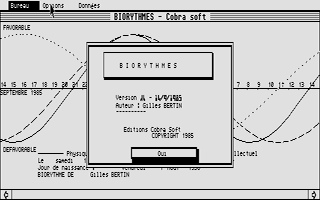 Screenshot of Biorythmes