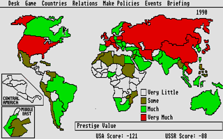 Screenshot of Balance of Power - The 1990 Edition