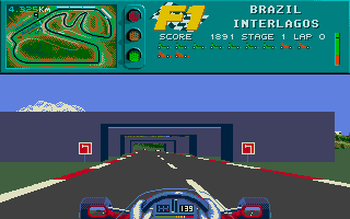 A screenshot of F1. As you can see, this is the same fun as in Vroom
