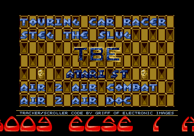 This TBE menu was coded by Griff and features a brilliant mod tune.