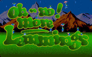 This is the sequel to Lemmings (so it comes before Lemmings - The Tribe) but it's more difficult. This game features 100 levels divided into 5 levels, hard to complete!