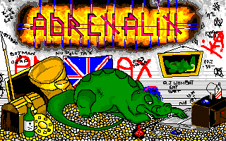 Another unreleased picture. Take a look: the dragon is playing with an Atari machine!