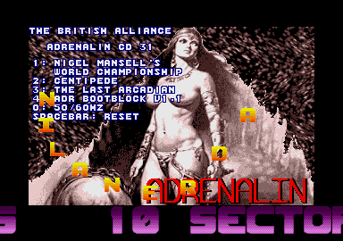 Adrenalin UK CD 31 - The pic was digitized by Spaceman Spiff using Amiga