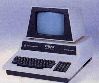 The Commodore CBM-3032 offered Guido the way to learn some coding lines.